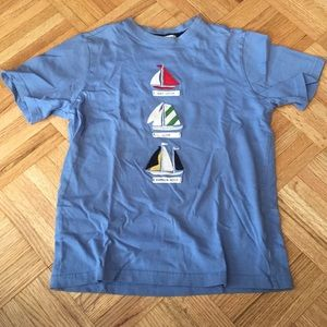 Boys embroidered sailing tee